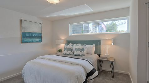 Bedroom Four of 64th in Ballard by Sage Homes Northwest