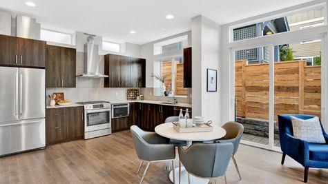 Kitchen of 926 N 35th Street in Seattle by Sage Homes Northwest