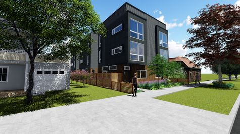 Front and Side Exterior Elevation of 214 17th Ave E by Sage Homes Northwest