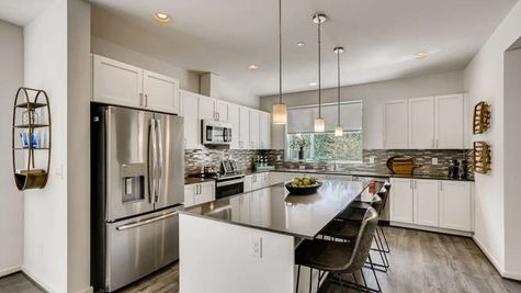 Upgrade Kitchen of the Mies at Westbrook in Lynnwood by Sage Homes Northwest