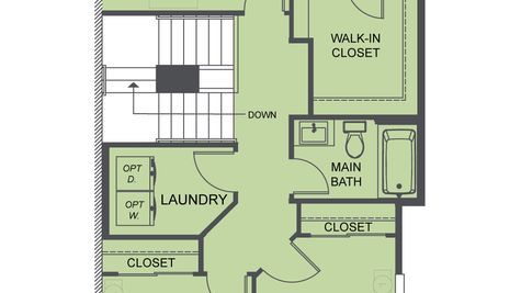 The Mies Third Floor Plan at Westbrook by Sage Homes Northwest