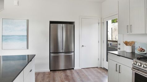 The Fridge at the Wren at the Flatiron Station in Hillman City by Sage Homes Northwest