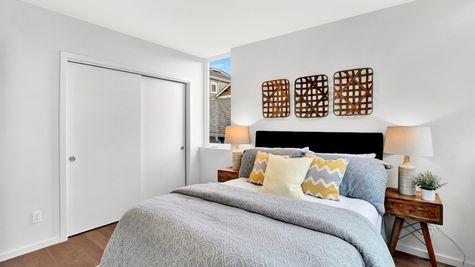 Bedroom Three Closet of 926 N 35th Street in Seattle by Sage Homes Northwest