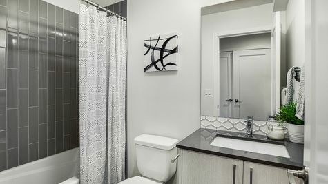 The Foster Guest Bathroom by Sage Homes Northwest