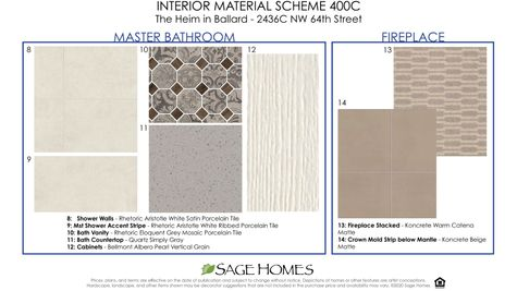 Interior Materials 2 at 2436C NW 64th Street at the Heim by Sage Homes Northwest