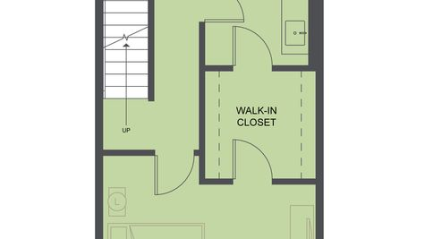 The Third Floor Plan of the Koolhaas Townhome of the Lucile Townhomes in Hillman City by Sage Homes Northwest