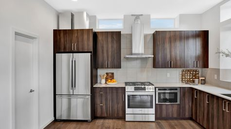 Kitchen Hood of 926 N 35th Street in Seattle by Sage Homes Northwest