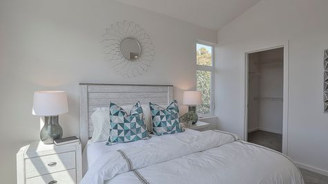 Master Bedroom of 64th in Ballard by Sage Homes Northwest