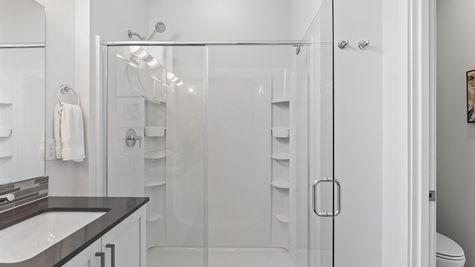 Primary Shower of the Alvar by Sage Homes Northwest