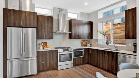 Kitchen Appliances of 926 N 35th Street in Seattle by Sage Homes Northwest