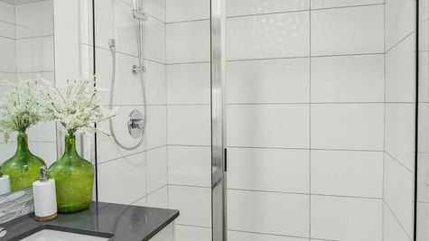 The Foster Master Shower by Sage Homes Northwest