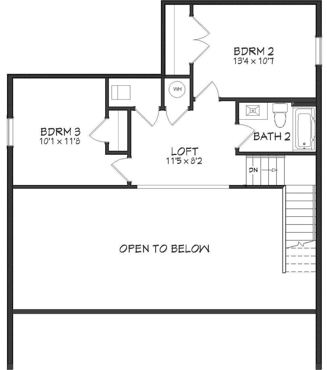 Serenity Floor Plan - 2nd Floor