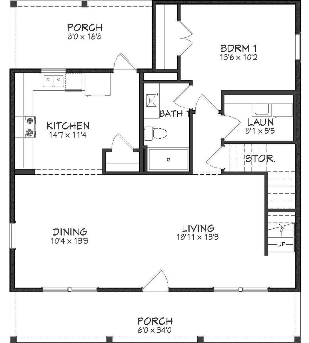 Serenity Floor Plan - 1st Floor
