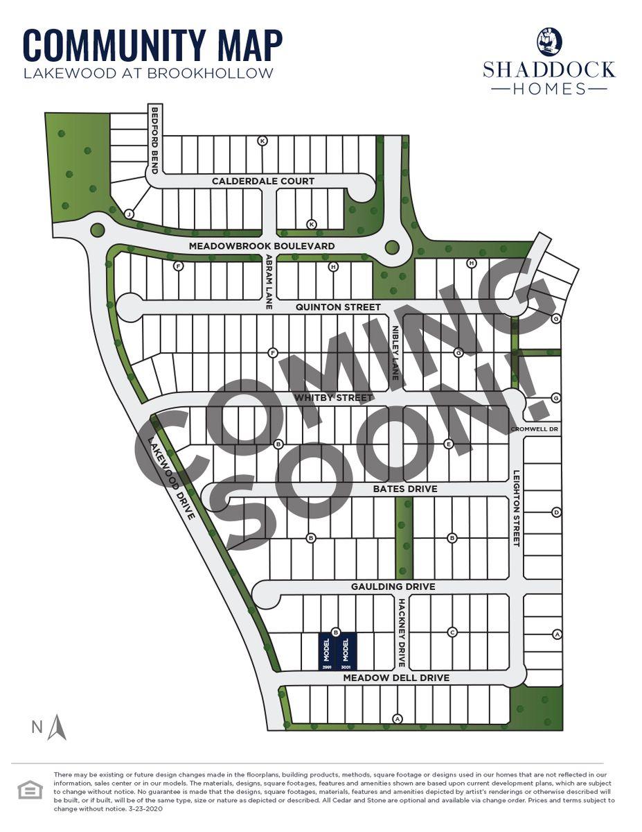 Lakewood at Brookhollow - 55' Lots Siteplan