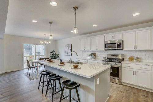 Large kitchen by Milwaukee home builders Tim O'Brien