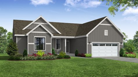 Holly Farmhouse Front Exterior Rendering