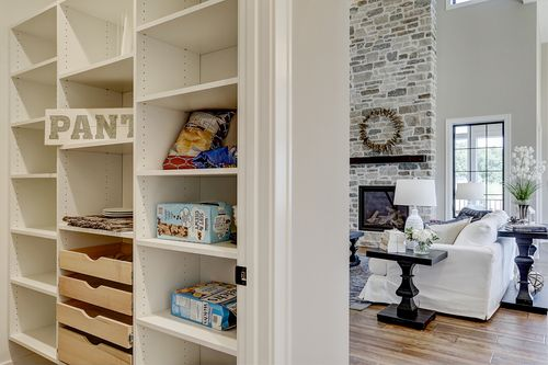 Walk-in pantry in a Tim O'Brien new home