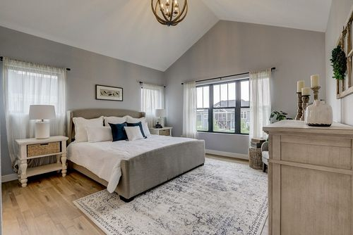 Neutral Color Master Bedroom in a new home in Madison, WI