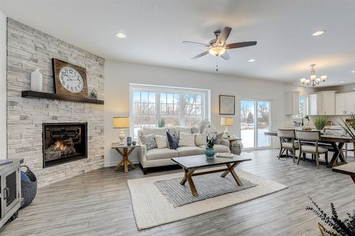 Open floor plan by Madison home builders, Tim O'Brien