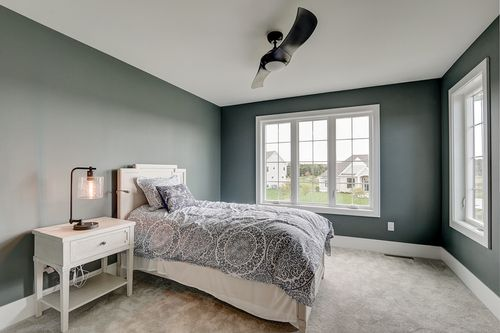Bedroom by Milwaukee home builders Tim O'Brien