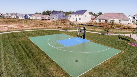 Basketball court near new homes in Summit WI