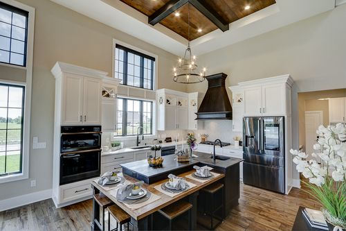 Kitchen with high ceiling in a new Tim O'Brien home