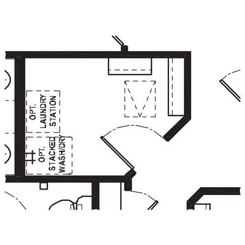 Optional Second Floor Laundry
