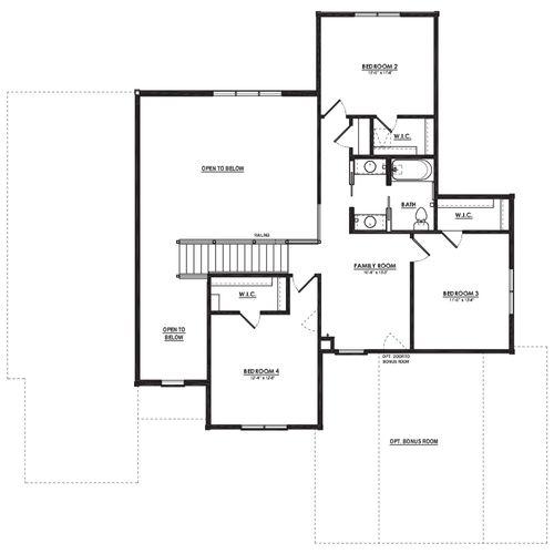 Dunloe Second Floor Plan Drawing