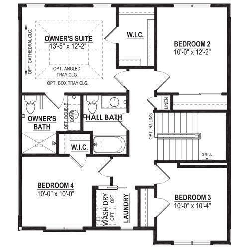 Optional 4 Bedroom Second Floor