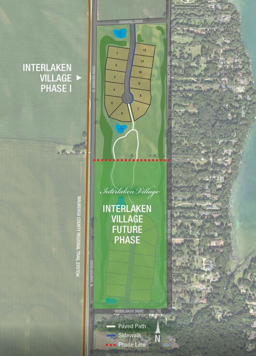 Development plan for new homes at Interlaken Village