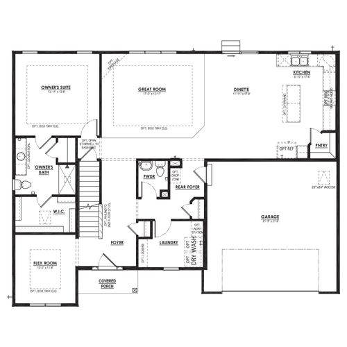 Alpine First Floor Plan Drawing