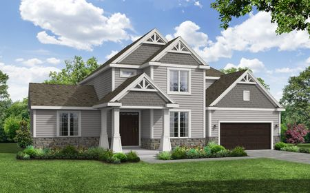 Carlow Craftsman Front Elevation Rendering