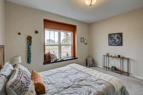 Bedroom in a Madison-area new home
