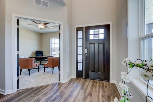 Entryway with office in a model home in Milwaukee WI