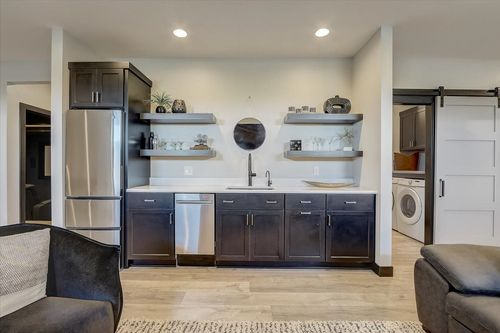 Kitchen in a new construction home by Tim O'Brien in Madison WI