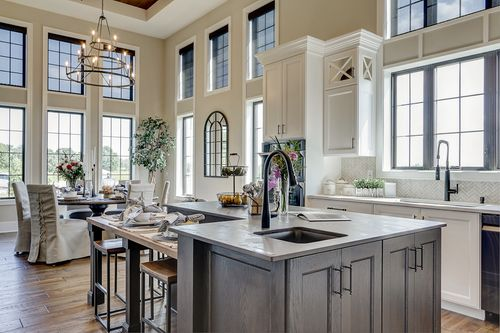 Open floor plan in a new Tim O'Brien home