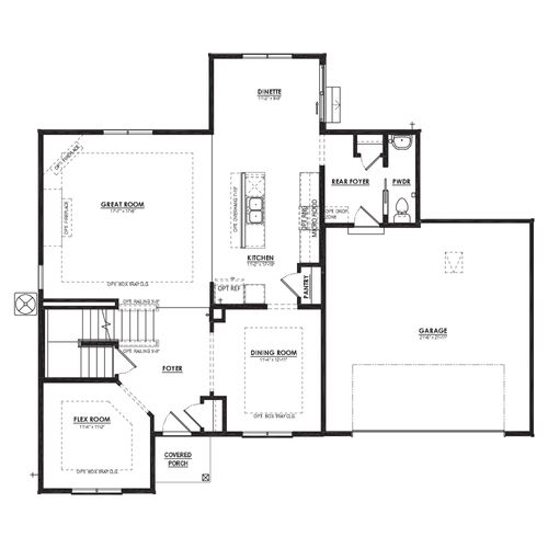 Hickory First Floor Plan Drawing
