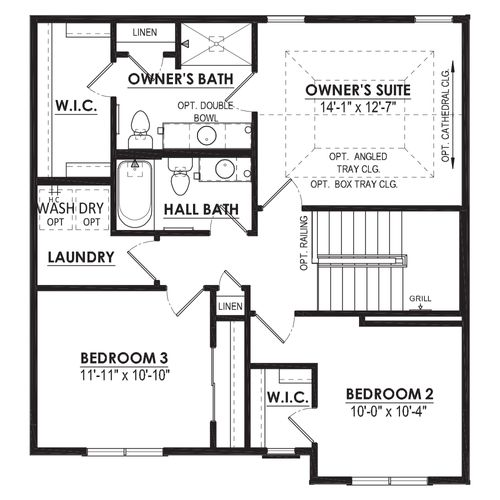 Mahogany Second Floor Plan