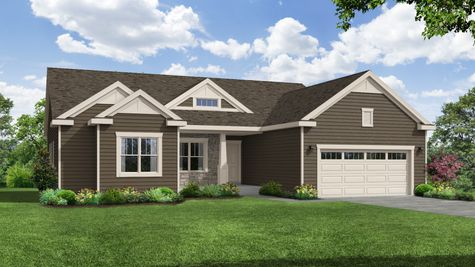 Holly Craftsman Front Exterior Rendering