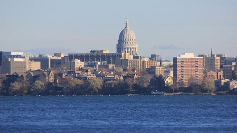 Madison, WI Capital Building from Across Lake Monona