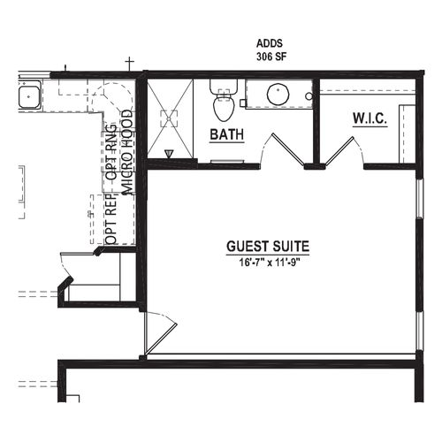 Optional Guest Suite