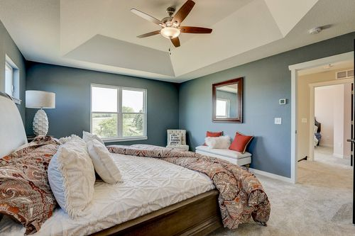 Master bedroom in a Milwaukee new home