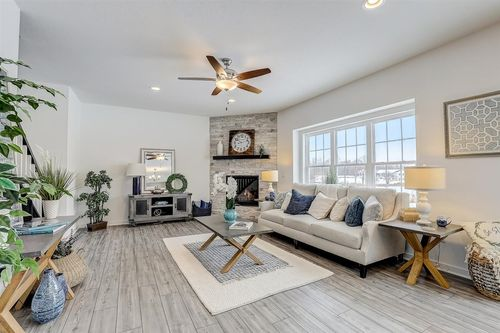 Great Room by Madison home builders, Tim O'Brien