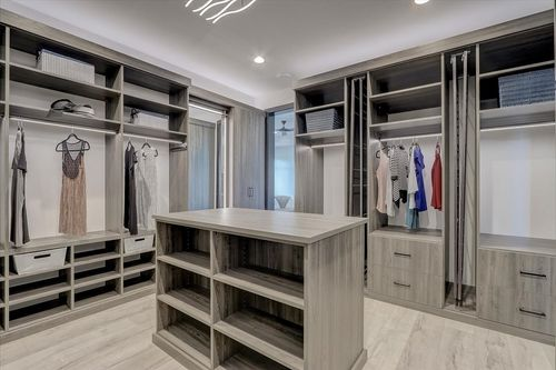 Walk-in closet in a Tim O'Brien home in Madison WI