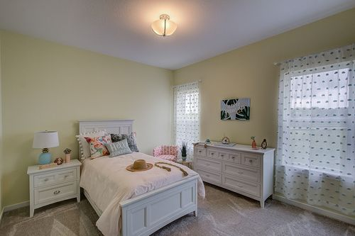 Staged model home by Milwaukee home builders