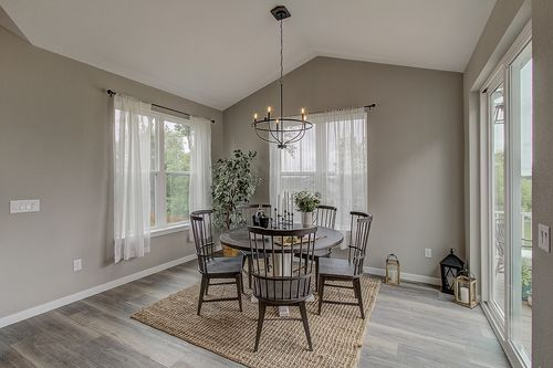 Dining room by Wisconsin home builders, Tim O'Brien