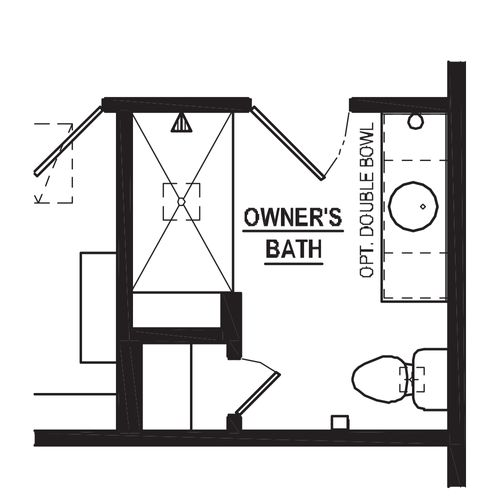 Optional 4 Bedroom Tile Shower with Bench