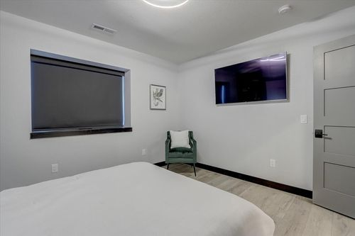 New construction home with white spare bedroom