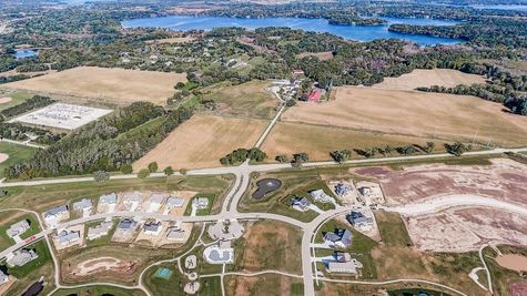 Aerial view of homesites in Lake Country Village