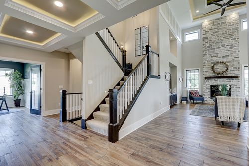 Front Staircase by Tim O'Brien builders in a new home